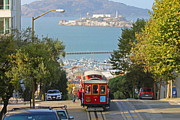 Alcatraz Prints - Cable Car on Hyde Street Print by Jack Schultz