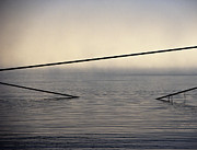 Angular Metal Prints - Cable Supports in Ocean Metal Print by David Buffington