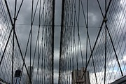 Brooklyn Bridge Prints - Cables on the Bridge Print by David Bearden