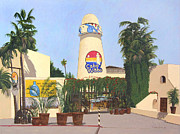 Baja Art Cards Painting Originals - Cabo Wabo Cantina by Chris MacClure