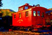 Caboose Digital Art Framed Prints - Caboose 49 Framed Print by Christine S Zipps