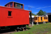 Shelburne Falls Prints - Caboose at Shelburne Trolley Museum Print by John Burk