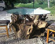 Cedar Sculptures - Cacalilao dining table by Calixto Gonzalez