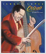 Celebration Pastels Posters - Cachao  Poster by John Crespo Estrella