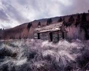 Old Cabin Photos - Cache Cabin by Leland Howard