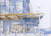 Industrial Drawings Originals - Cachot by Stefan Beltzig