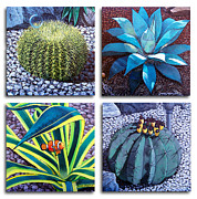 Barrel Paintings - Cactus Close Ups by Snake Jagger