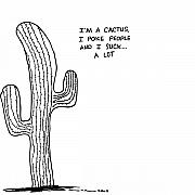 Prick Prints - Cactus Comic Print by Karl Addison