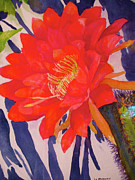 San Juan Paintings - Cactus Flower at San Juan by L L Morgan