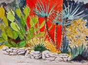 """texas Artist"" Mixed Media Posters - Cactus Garden  Poster by Fred Jinkins"