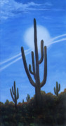 Desert Landscape Paintings - Cactus Halo by Judy Filarecki