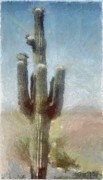 United States Of America Digital Art Posters - Cactus Poster by Jeff Kolker