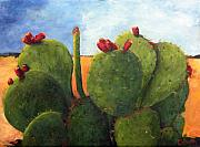 Cactus Fruit Prints - Cactus Pears Print by Chris Neil Smith