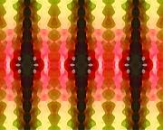 Abstract Digital Art Paintings - Cactus Vibrations 2 by Amy Vangsgard