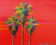 Cadmium Red Posters - Cad Palms Poster by Anne Marie Brown