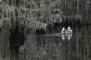 Caddo Framed Prints - Caddo Lake Paddlers Framed Print by Bob Christopher
