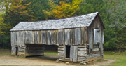 Historical Buildings Posters - Cades Cove Barn Poster by Michael Peychich