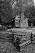 Log Cabin Photographs Photos - Cades Cove Cabin by Jeff Moose
