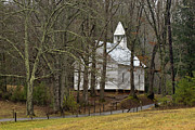 Precipitation Metal Prints - Cades Cove Methodist Church - D007905 Metal Print by Daniel Dempster