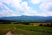 Field. Cloud Photo Prints - Cades Cove Print by Susie Weaver