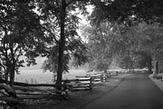 Gatlinburg Prints - Cades Cove Tennessee in Black and White Print by Kathy Clark
