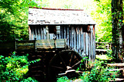 Gatlinburg Tennessee Digital Art Prints - Cades Mill Print by Barry Jones