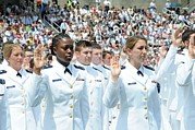 Ceremonies Prints - Cadets At The Coast Guard Academys Print by Everett