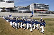 Students Photo Prints - Cadets March Onto The Stillman Parade Print by Stocktrek Images