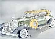 Classic Cars Originals - Cadillac 1930 by Eva Ason