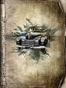 Old Cars Mixed Media - Cadillac Aldham by Svetlana Sewell