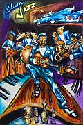 Jazz Artwork Painting Originals - Cadillac Blues by Daryl Price