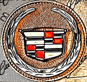 Car Emblems Photos - Cadillac by Cheryl Young