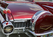 Dorado Photo Posters - Cadillac El Dorado 1958 boot and spare wheel. Miami Poster by Juan Carlos Ferro Duque