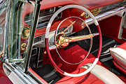 Dorado Photo Posters - Cadillac El Dorado 1958 dashboard and steering whee. Miami Poster by Juan Carlos Ferro Duque