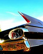 Caddy Prints - Cadillac Fin Print by James Yellen
