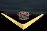 Cadillac Metal Prints - Cadillac Hood Emblem Metal Print by Tim McCullough