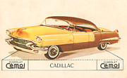 Caddy Digital Art Posters - Cadillac Poster by Nomad Art And  Design