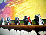 Fassade Framed Prints - Cadillac Ranch - Montreal Framed Print by Juergen Weiss