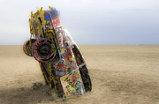 Installation Art Photos - Cadillac Ranch 21 by Luc Novovitch