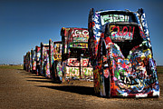 Colors Posters - Cadillac Ranch Poster by Lana Trussell