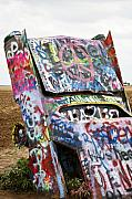 Spray Paint Art Posters - Cadillac Ranch Poster by Marilyn Hunt
