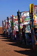 Cadillac Ranch Photos - Cadillac Ranch Route 66 by Susanne Van Hulst