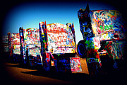 Cadillac Ranch Photos - Cadillacs on Route66 by Susanne Van Hulst