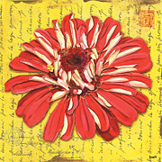 Postmark Paintings - Cadmium Dream by Debbie DeWitt