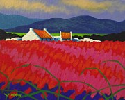 Poppies Field Paintings - Cadmium Meadow by John  Nolan