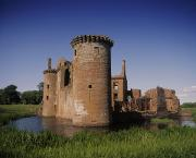 Moated Castle Prints - Caerlaverock Castle, Dumfries, Scotland Print by The Irish Image Collection 