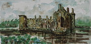 Barcelona Painting Originals - Caerlaverock by Phong Trinh