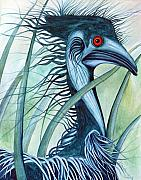 Emu Paintings - Caeruleus by Lesley Smitheringale