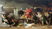 Riding Paintings - Caesar by Adolphe Yvon