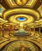 Popular Art Framed Prints - Caesars Grand Lobby Framed Print by Yhun Suarez